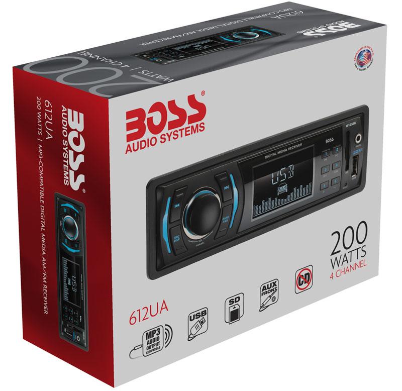 Boss Audio 612ua Multimedia Car Stereo: BOSS 612UA SINGLE-DIN DIGITAL MEDIA CAR STEREO W/ FRONT
