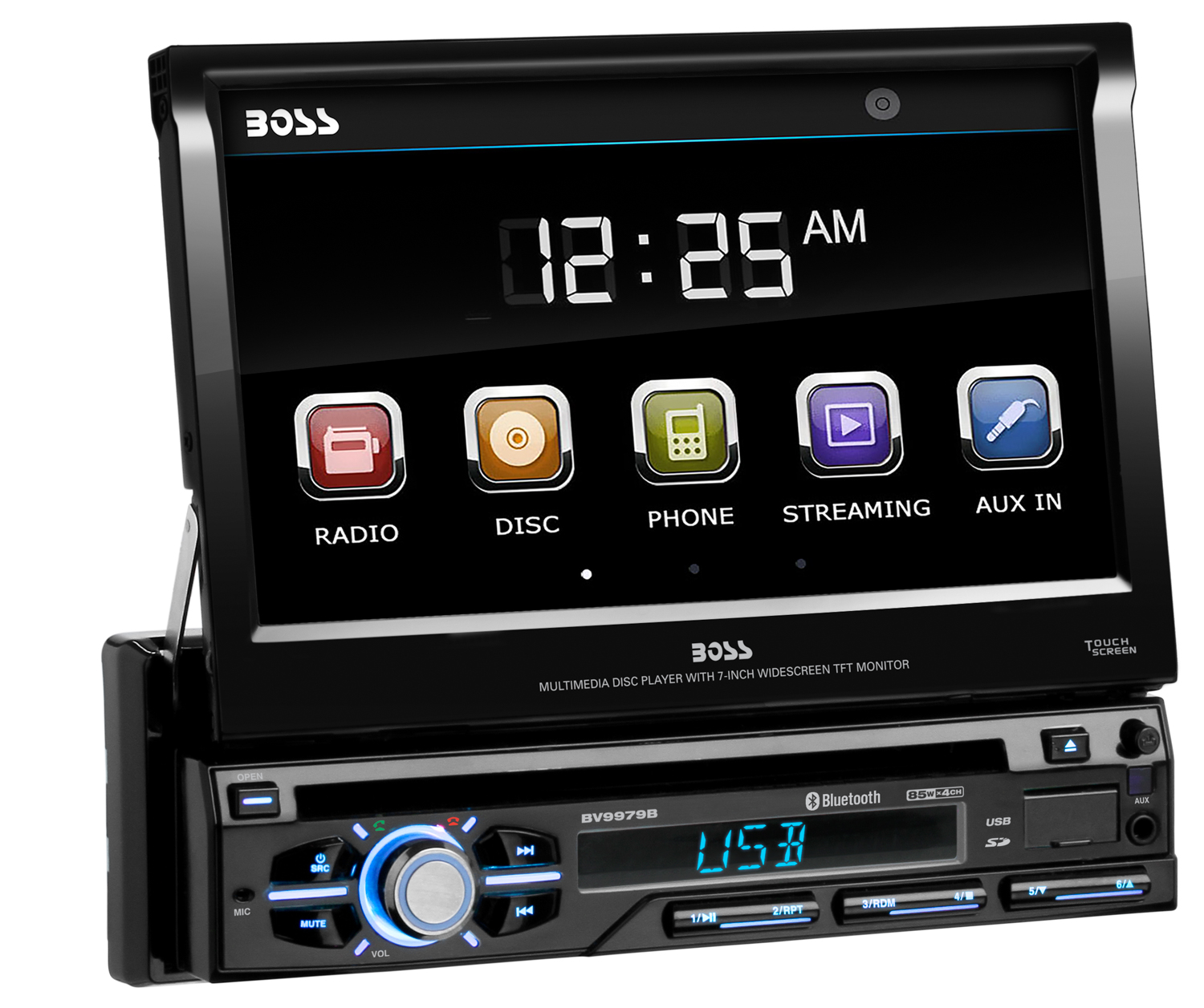 boss bv9979b car dvd cd player 7 touchscreen monitor usb. Black Bedroom Furniture Sets. Home Design Ideas
