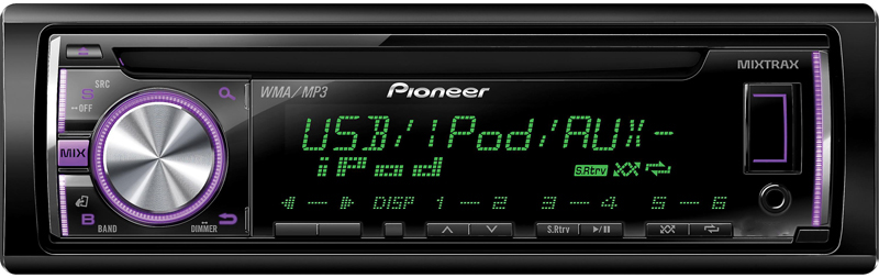 pioneer deh-x36ui in-dash cd player with pandora android ipod compatibility  and wireless remote