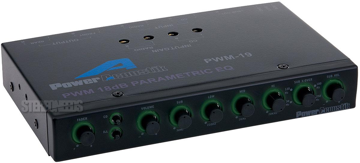 Car Audio Equalizer: NEW POWER ACOUSTIK PWM-19 CAR AUDIO 4-BAND PARAMETRIC