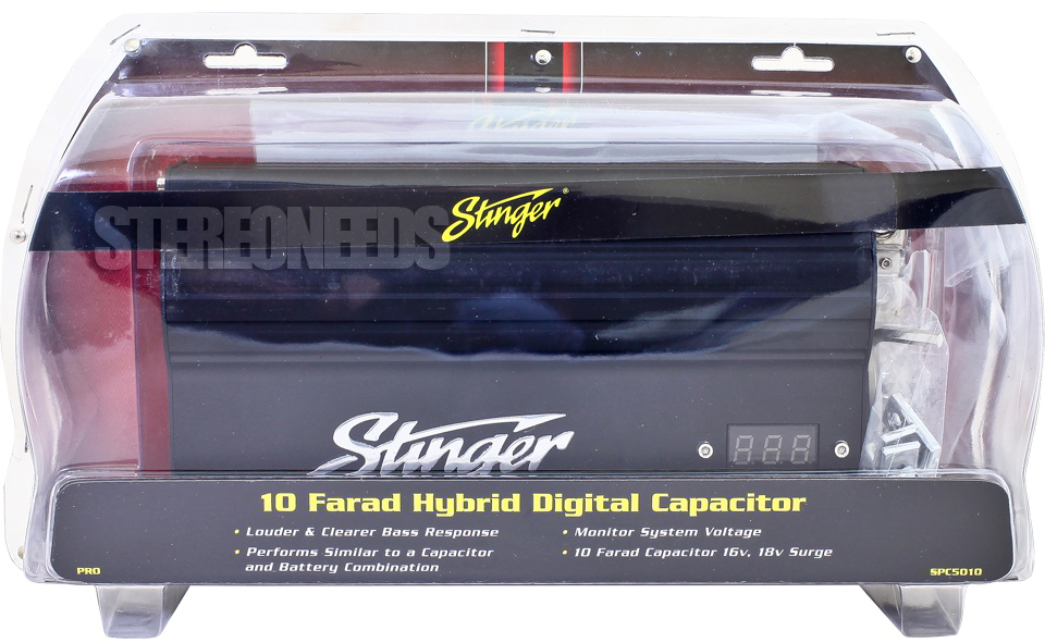 Details about NEW STINGER PRO SPC5010 10 FARAD HYBRID CAPACITOR DIGITAL  VOLTAGE BLACK DISPLAY