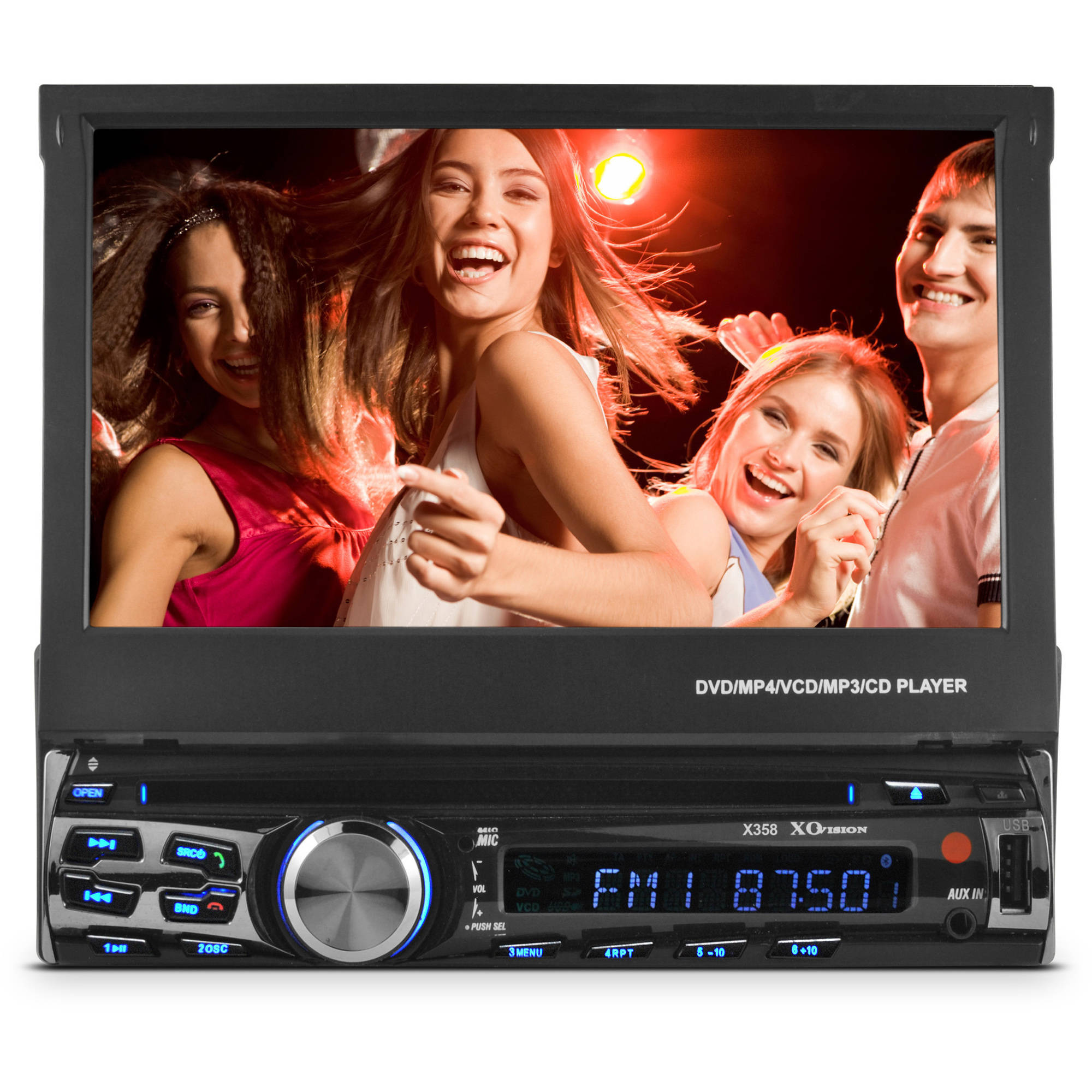 Dual Xdvd110bt 1 Din Car Dvd Cd Mp3 Player Flip Up Out 7 Lcd Plcm18bc Wiring Diagram Item Specifics